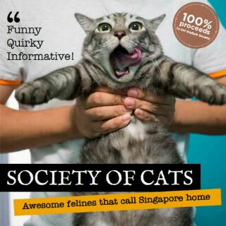 Commemorative Coffee Table Book About Cats In Singapore